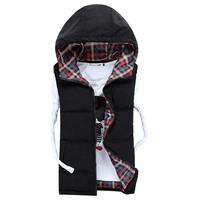 High quality Winter New Authentic Mens Parka Jacket WARM THICK COTTON VEST Coat Outerwear Warm Vest
