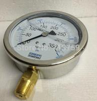 """YN-100 Glycerine filled SS Manometer Pressure Gauge Meter 100mm Dia 3/8""""BSPT"""