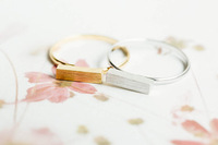 Thick Modern Bar Ring Silver Gold Rose Gold  Adjustable midi Rings