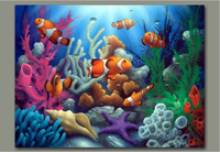 Frameless Painting By Numbers DIY Digital Oil Painting Linen Christmas Gift Home Decoration 40x50cm Lucky Colorful Fish WK012