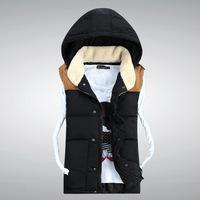 2014 Men's Spring and Autumn new cotton vest Fashionable casual jacket waistcoat vest thicker Korean Style Cotton Vest