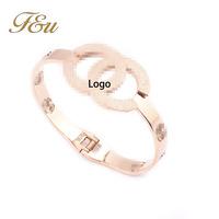 2014 Newest Fashion Elegant Bangle Branded Girls Bracelet Gold Plated 26.0g Weight Bangle Bracelet#484