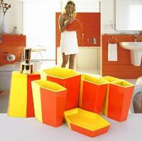 Bi-color famous bathroom set four/five/six pieces bathroom accessories wash set Free shipping