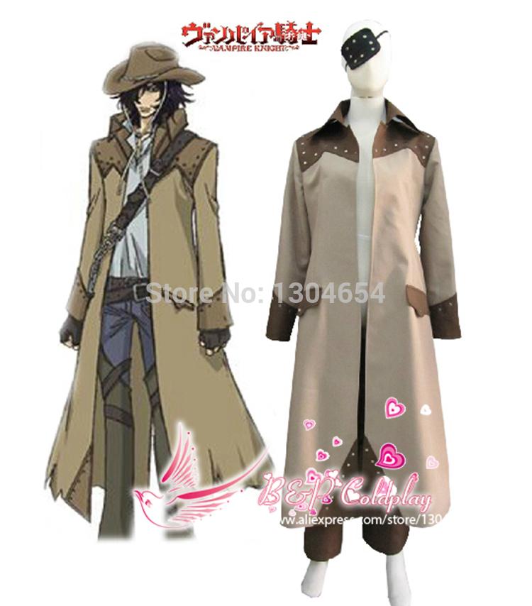 B&P Coldplay Vampire Knight Vampire Hunter Toga Yagari Overcoat Cosplay Costume Halloween Cosplay Men Clothes Anime Cosplay(China (Mainland))