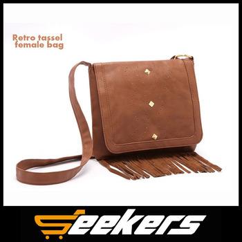 Новый prado бахромой сумки дизайн старинные посыльного сумки для женщин сумки на ремне искусственная кожа сумка сумки браун bolsas бесплатная доставка
