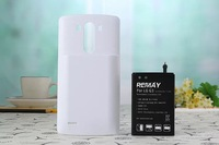 For LG G3 D830 D850 D851 6000mAh  battery  Thickening of the portable Mobile Phone Batteries cover power bank back case white