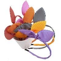 Small dots rabbit ears dance station  headbands child accessories  Wholesale 6pcs /lot