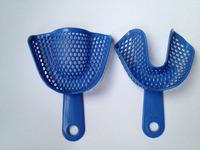 Free shipping Blue Dental Plastic-Steel Impression Trays autoclavable L size 5 pairs=10pcs