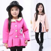 2014 Autumn Winter Girls Space Cotton Coats Children Long Sleeve Cardigan Coat Kids Clothing Free Shipping 5 PCS