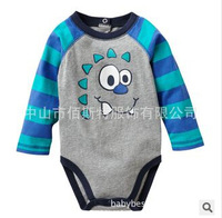 2014 new comfortable infant rompers 3Designs 100% cotton jumpsuits little baby clothing cartoon kids wear
