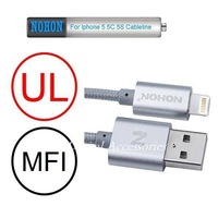 MFI For iPhone 5 5S 5C 6 Plus ipad 4 mini Air NOHON Lightning Dock Golden 100CM Ultra Fast 8Pin USB Data Charger Cable Line