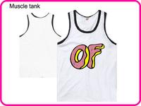 Stock Free Shipping  Fashion Men Brand Odd Future Tank Tops Soft Cotton High Quality White Color Odd Future Tops-009