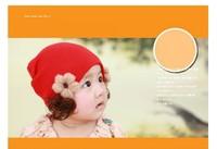 Baby girl cartoon autumn winter warm flower butterfly wig turtleneck cap children wool hat