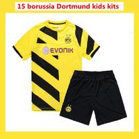 New! REUS Kids hummels 2014 Borussia Dortmund Kids Jerseys 14 15 Thai quality REUS MKHITARYAN shirt Dortmund Kids Jerseys