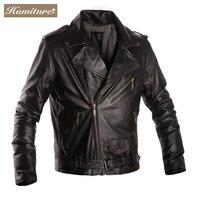Freeshipping! New Fashion men's Cowhide  Leather Jacket Genuine LEather Jacket  HMC9903