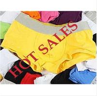 Hot Sale!New Arrival Modal Men's Underwear Solid Color 11 Colors High Quality Mens Boxers 4 Size M L XL XXL 5 Pcs /Lot