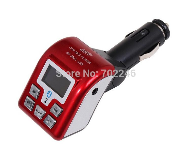 Free shipping Best DBW Car MP3 Playerbest handsfree bluetooth car kit Caller ID FM Transmitter hands-free support USB/SD/MCC(China (Mainland))