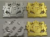 DAD JP Car Front Grill Grille Badge Emblem 3D VIP Emblem Badge Decals DIY Symbol Stickers car refitting JP car sticker