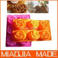 Free shipping 2 pcs/ lot ROSE style silicone cake mold,cake pan,bakeware,29.8CM*17.4CM*3.7CM rose mold