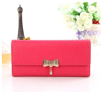 2014 women new fashion pu leather bowknot Money Clips lady Money Clips free shipping(China (Mainland))