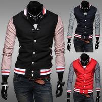 Wholesale Casual Sports Shirt Slim Baseball Uniform Baseball Stitching New Jacket , Men's Cardigan Coat Jacket JK109