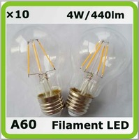 Drop shipping 220V 230V 240V 4w led bulb A60 clear cover E27 440lm equal to 40W incandescent bulbs