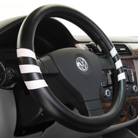 38cm Super Soft Leather Contrast Color Steering Wheel Covers For Toyota Honda Nissan Honda Ford