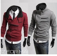 Wholesale New Men's Casual Fashion Sport Double Collar Fleece Sweater Cardigan Sweater, Men's Jacket WY104