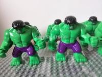20PCS 7cm minifigures big Hulk purple pants figures block toy Plastic Building Block Sets Action Figures model Christmas gift