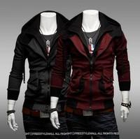 Hot Selling New Men's Fashion Casual Sports Hooded Zipper Sweater , Men's Sweater Jacket WY093