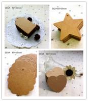 free shipping 100pcs hand draw tags card DIY kraft tag gift label paper card blank