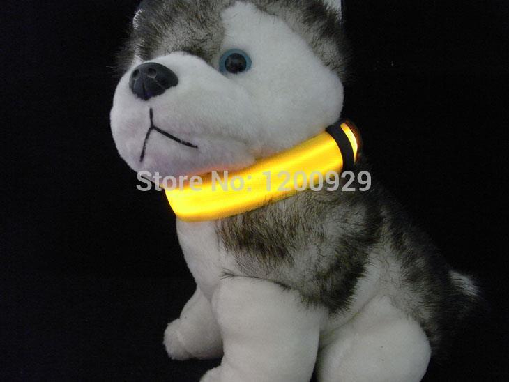 5Color Double-Sided Exposure LED Light Pet Collars Small Medium Large Dog/Cat Safety Glow Necklace Flashing LED Collar AC-203(China (Mainland))