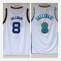 8# Danilo Gallinari Jersey New Material Rev 30 Embroidery Denver Basketball jersey size S-XXL Retail/Wholesale Free Shipping
