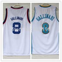 8# Danilo Gallinari Jersey New Material Rev 30 Embroidery Denver Basketball jerseys size S-XXL Retail/Wholesale Free Shipping