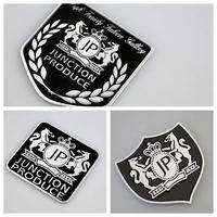 JP Aluminum Emblem side Car Badge Metal Logo JUNCTION PRODUCE LOGO ALUMINIUM BADGE EMBLEM VIP STYLING JP LUXURY EXTERIOR