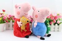 2pcs/set 30CM Peppa Pig Peppa and George Plush Toys Plush Doll Stuffed & Plush Animals Plush Movie Cartoon Toys