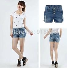 Mais novo Plus Size Shorts jeans femininas Shorts jeans / moda senhoras calças quentes / 7XL 9XL promoção de verão cintura baixa / WTE(China (Mainland))