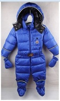 Free shipping 2014 new winter jacket baby Baby warm down jacket Boys and girls coat Baby Siamese Romper