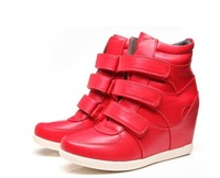 Free shipping women's shoes Increased within Boots Height Increasing Sneakers New 20 style Shoes color Leather Size(34~42)