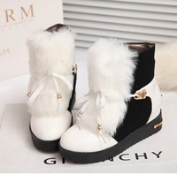 Free shipping  fashion elegant lady's short boots winter warm fur women ankle boots charming warm snow boots women winter shoes