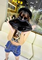 2014 new fall fashion styling lips patent leather clutch handbag chain shoulder diagonal