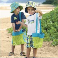 BAY136  Children Baby collection pouch bag baby beach shells bag storage bag beach treasure bag 9.5*9.5inch 2pcs/lot