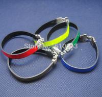 6 Pieces/Lot,New Imitation Leather Bracelet,Charms Jewelry Bracelet,Size: 20x7.50cm, 7cm diameters,Mix colors