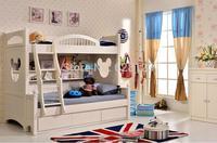 CRBD006 Children furniture bunk bed Korean rural Children's bed boys