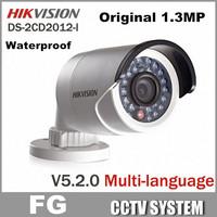 Free Shipping 3pcs/lot Original Hikvision DS-2CD2012-I 1.3MP Camera Full HD 960P POE Outdoor IR IP Camera Newest Version V5.2.0