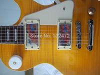Classic standard LP Super eye-catching Yellow Electric Guitar