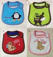 500pcs/lot wholesale Infant Baby Waterproof  Saliva Towels Cartoon baby bib Different Model
