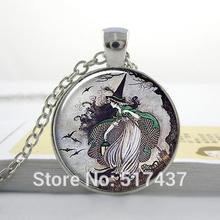 1 pc grátis frete O3 bruxa de conto de fadas pingente bruxa colar pingente de resina jóias bruxa Halloween jóias(China (Mainland))