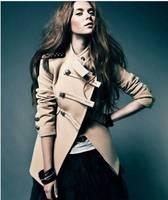 Women's Winter Short Woolen Jacket 2014 New Fashion Double-breasted Woolen Coat  Wool & Blends Short Outerwear Beige S,M,L Hot