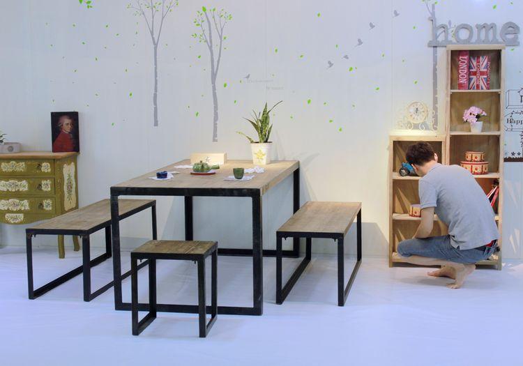 Compra muebles de hierro online al por mayor de china for Muebles estilo industrial baratos